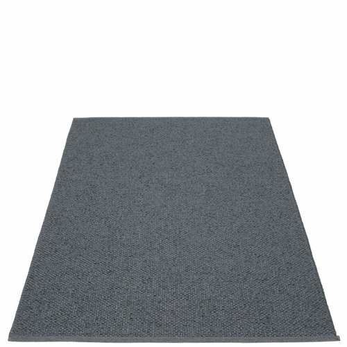 "Svea Plastic Rug - Granite/Black Metallic, 72"" x 102"""