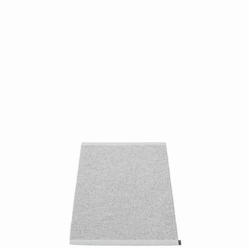 Svea Plastic Rug - Grey Metallic/Light Grey, 2' x 2 3/4'