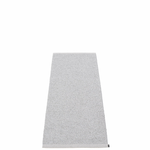 "Svea Plastic Rug - Grey Metallic/Light Grey, 24"" x 60"""