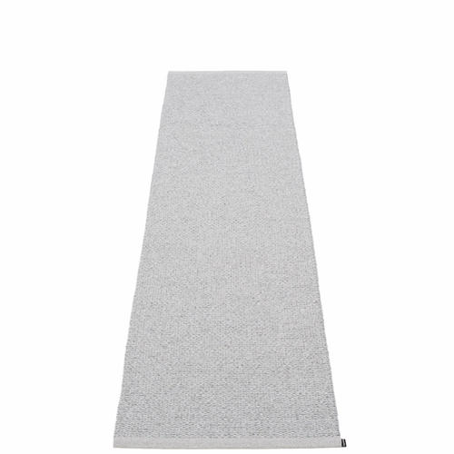 Svea Plastic Rug - Grey Metallic/Light Grey, 2 1/4' x 10 1/2'