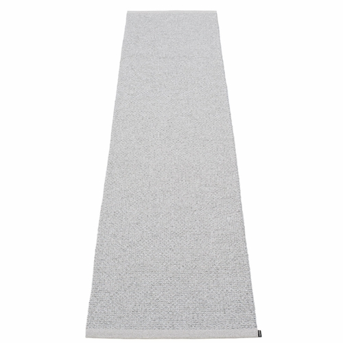 "Svea Plastic Rug - Grey Metallic/Light Grey, 27"" x 159"""