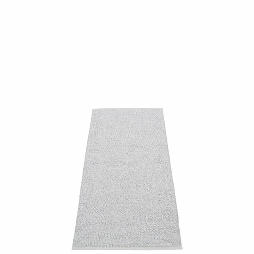 Svea Plastic Rug - Grey Metallic/Light Grey, 2 1/4' x 5 1/4'