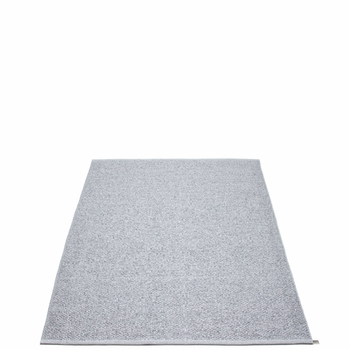Svea Plastic Rug - Grey Metallic/Light Grey, 4 1/2' x 7 1/4'