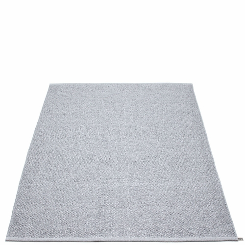 Svea Plastic Rug - Grey Metallic/Light Grey, 6' x 8 1/2'