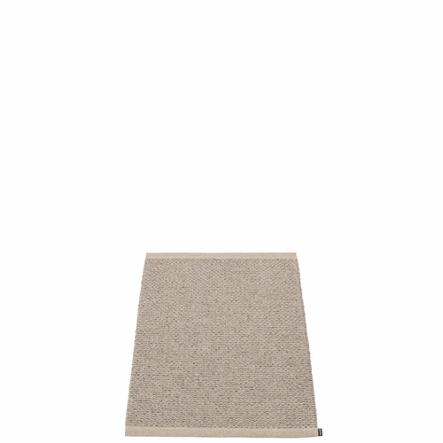 Svea Plastic Rug - Mud Metallic/Mud, 2' x 2 3/4'