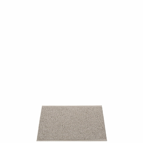 "Svea Plastic Rug - Mud Metallic/Mud, 27"" x 21"""