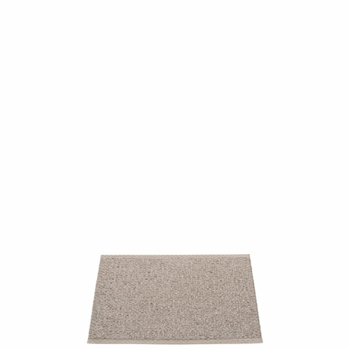Svea Plastic Rug - Mud Metallic/Mud, 2 1/4' x 1 3/4'