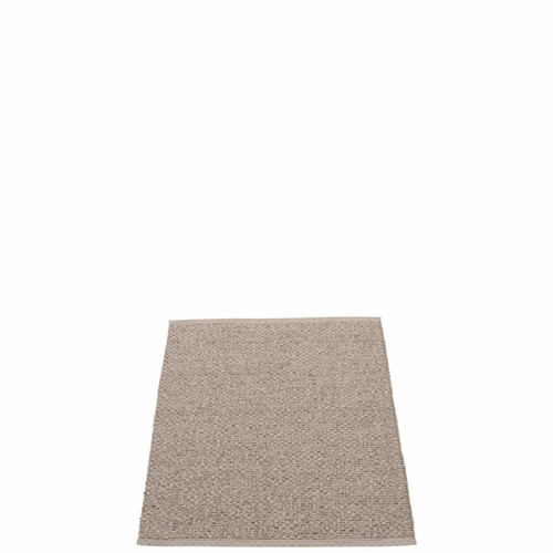"Svea Plastic Rug - Mud Metallic/Mud, 27"" x 36"""