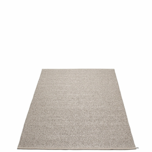 "Svea Plastic Rug - Mud Metallic/Mud, 54"" x 87"""