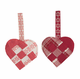 Swedish Hearts Ornament - set of 2, purple or red