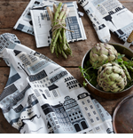 Swedish Kitchen Table Linens, Aprons & Trays