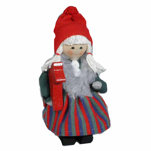 Swedish Tomte Girl with Dala Horse SOLD OUT