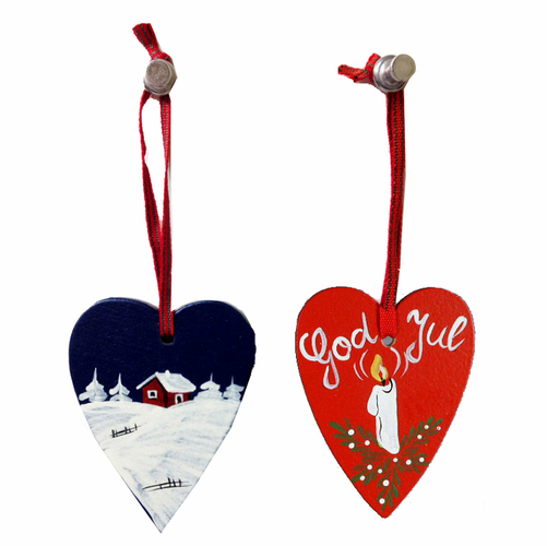 Swedish Wooden Heart Ornaments - SOLD OUT