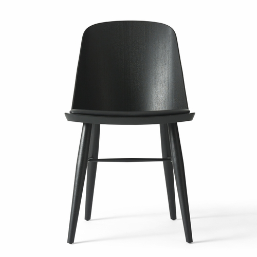 Menu Synnes Chair, Black Ash, Black Leather