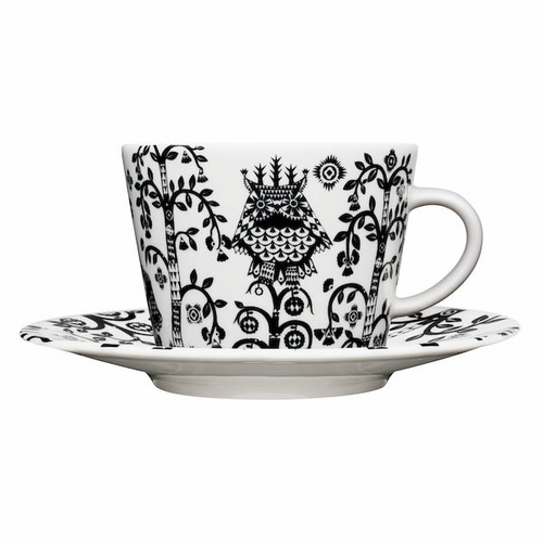 Taika Coffee/Cappuccino Cup and Saucer (6.75 oz) Black