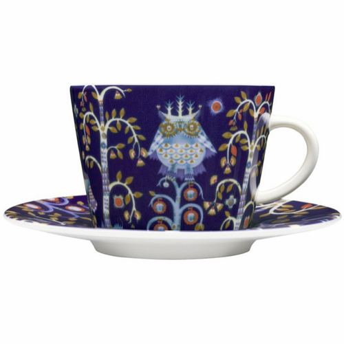Taika Coffee/Cappuccino Cup and Saucer (6.75 oz) Blue
