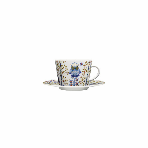 Taika Coffee/cappuccino cup and saucer (6.75 oz), white