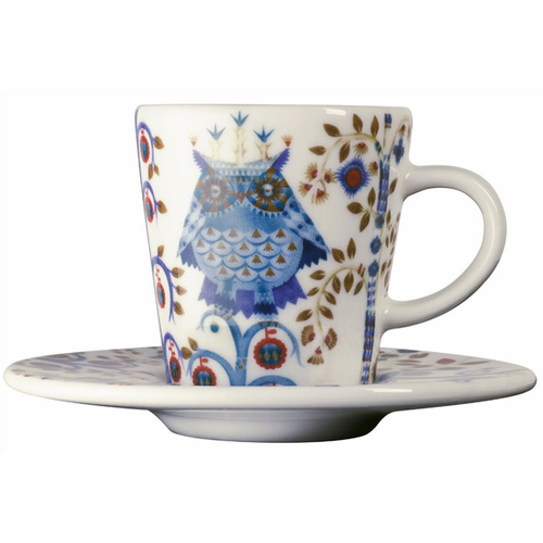 Taika Espresso Cup and Saucer (3.25 oz) White