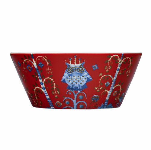 Taika Soup/Cereal Bowl 10 Oz Red