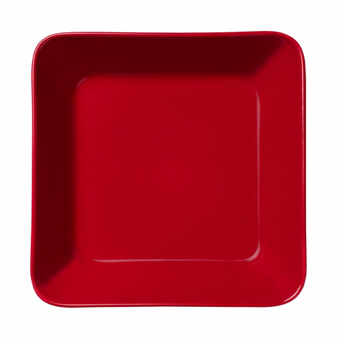 """Teema Square plate 6.25"""" x 6.25"""" Red"""