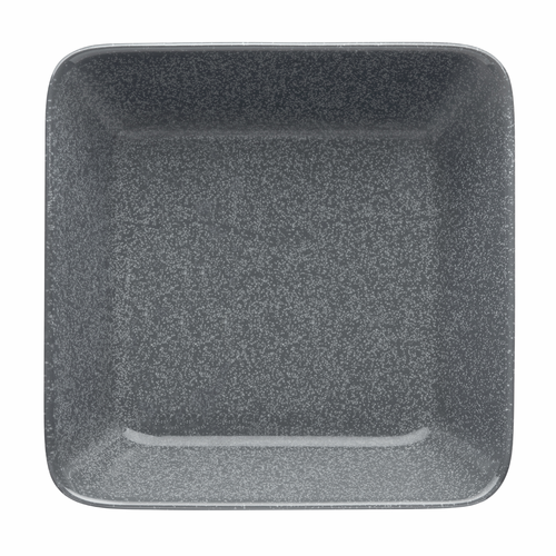 "Teema Square Plate 6.25"", Dotted Grey"
