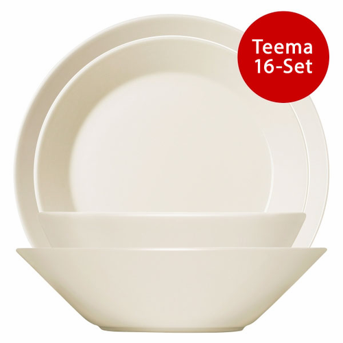 Iittala Teema 16 Piece Starter Set - White - 4 LEFT