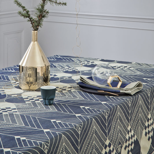 The Christmas Tablecloth, Blue Gold