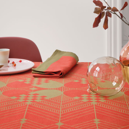 Georg Jensen Damask The Christmas Tablecloth, Christmas Red