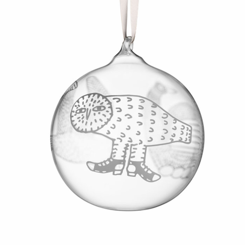 "Toikka Christmas Glass Ornament 3"" 2016"