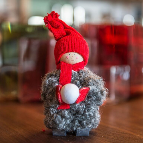 Tomte Boy with Snowball - Made in Sweden