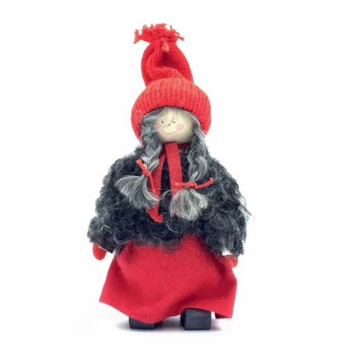 Tomte Girl with Braids - Made in Sweden