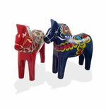 Traditional Swedish Wooden Dala Horse - Blue or Red