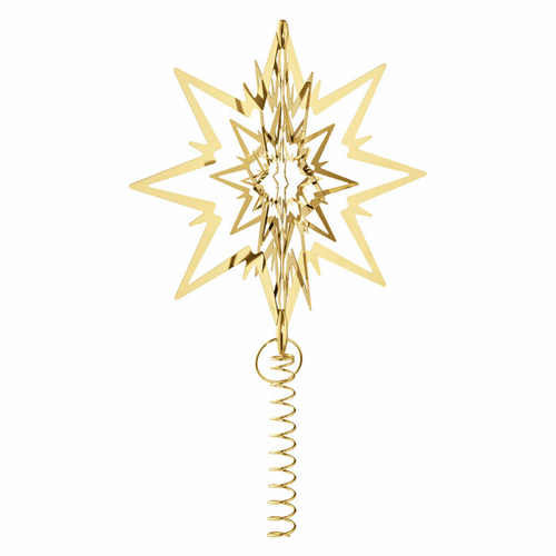 Georg Jensen Christmas Tree Top Star, Large, Gold Plated