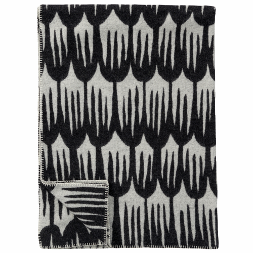Tulipa Merino & Lambs Wool Blanket, Black