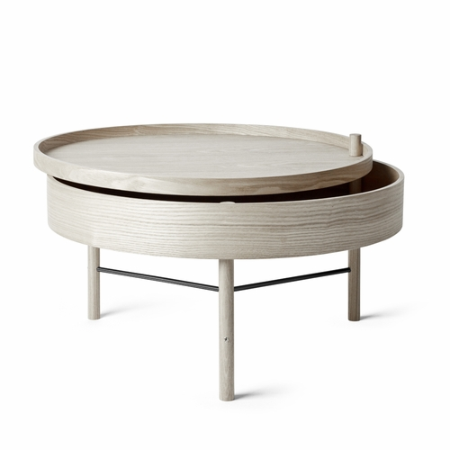 Menu Turning Table, Natural Oak, Black Chrome