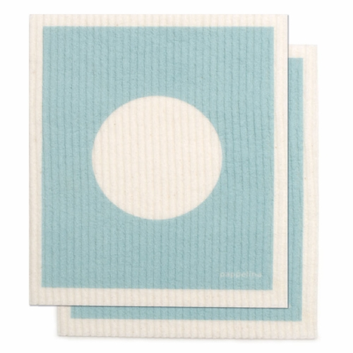 "Pappelina Vera Dishcloth, Set of 2 - Pale Turquoise, 7"" x 8"""