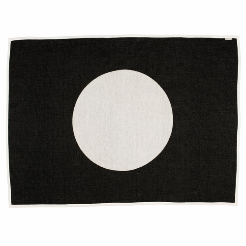 Vera Lambs Wool & Cotton Chenille Blanket - Black, 4 1/2' x 6'