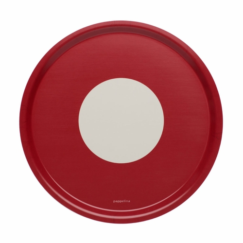 Pappelina Vera Big Round Tray - Red