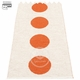 "Vera Small One Plastic Rug - Orange/Vanilla, 27"" x 36"""