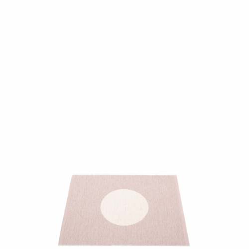 Pappelina Vera Small One Plastic Rug - Pale Rose/Vanilla, 2 1/4 x 3'