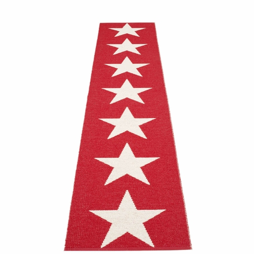 Viggo One Plastic Rug - Red/Vanilla, 2 1/4' x 11 1/2'