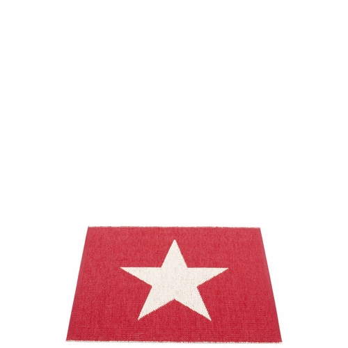 Viggo One Plastic Rug - Red/Vanilla, 2 1/4' x 3'