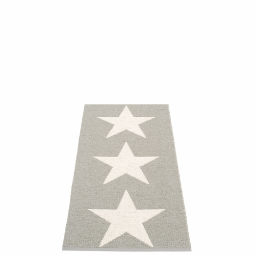 "Viggo One Plastic Rug - Warm Grey/Vanilla, 27"" x 60"""
