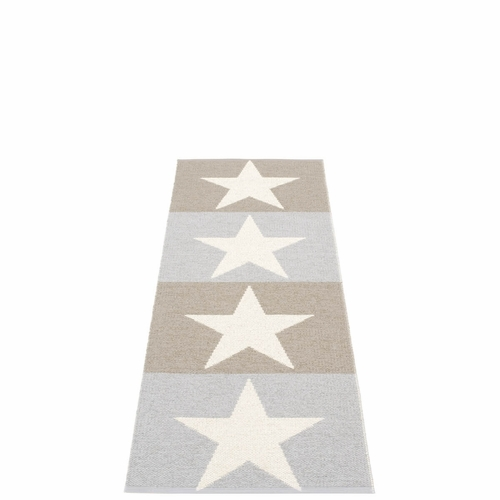Viggo Plastic Rug - Mud/Light Grey/Vanilla, 2 1/4' x 6 1/2'
