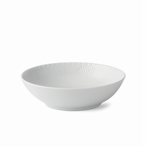 White Fluted Half Lace Bowl, 1 qt