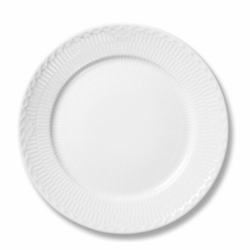 Royal Copenhagen White Fluted Half Lace Dinner Plate