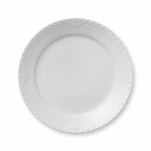 """White Fluted Half Lace Luncheon Plate, 9.75"""""""