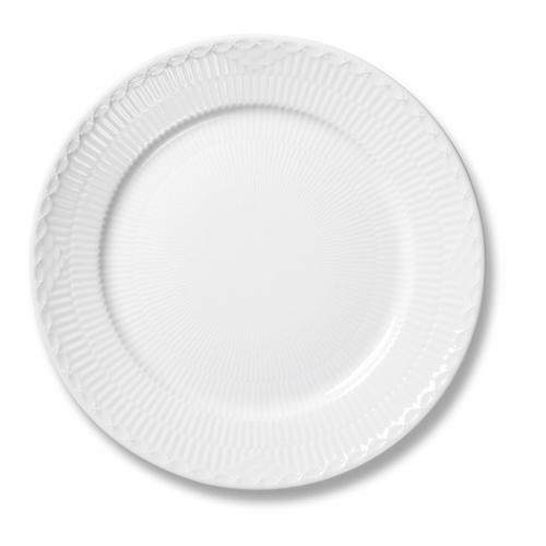 White Fluted Half Lace Salad/Dessert Plate