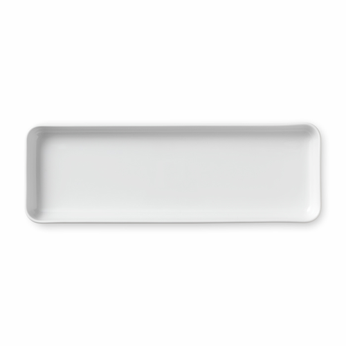White Fluted Plain Oblong Dish, 14""