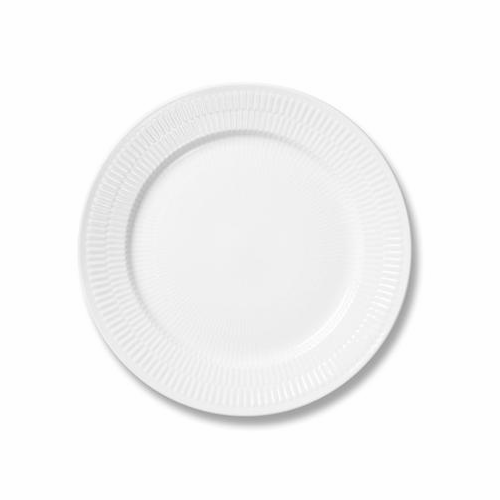 White Fluted Plain Salad Plate